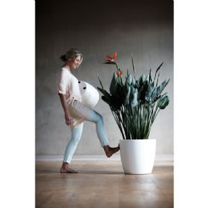 Contemporary indoor planters in matt finish with wheels online at potstore.co.uk
